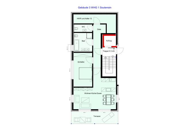 Gebäude 3 WHG 1 Souterrain