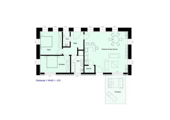 Gebäude 1 WHG 1 - EG